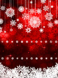 Red shiny Christmas background. EPS 8 Stock Image