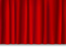 Red shiny curtain Stock Photos