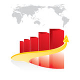 Red shiny graph Royalty Free Stock Photo