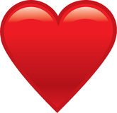 Red shiny heart Stock Photography