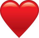 Red shiny heart. Illustration of a red shiny heart Stock Photography