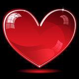 Red shiny heart Stock Images