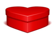 Red shiny heart gift with present Stock Photos