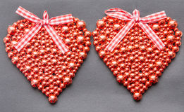 Red shiny heart Royalty Free Stock Images