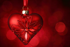 Red shiny heart Royalty Free Stock Photos