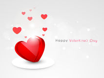 Red shiny heart for Happy Valentines Day celebration. Stock Photos
