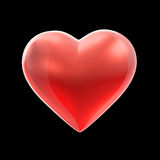 Red shiny heart Royalty Free Stock Photography