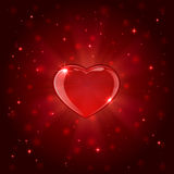 Red shiny heart Stock Photos