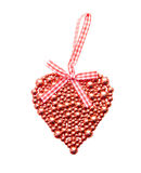 Red shiny heart. On a white background Royalty Free Stock Photography