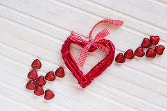 Red shiny hearts Royalty Free Stock Photo