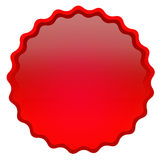 Red shiny icon Stock Image