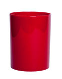 Red shiny Plastic cup for pencil - Stock Image Royalty Free Stock Photography