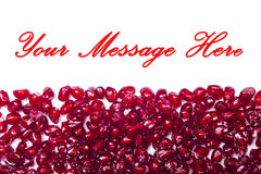 Red shiny pomegranate seeds Royalty Free Stock Photography