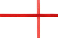 Red shiny ribbon isolated on white background Royalty Free Stock Photo
