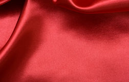 Red Shiny Silk background fabric Royalty Free Stock Photo