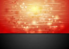 Red shiny sparks vector background Royalty Free Stock Image