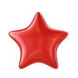 Red shiny star isolated on white background Royalty Free Stock Images
