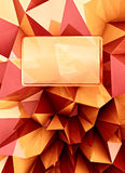 Red shiny triangular three dimensional shape card Royalty Free Stock Photo