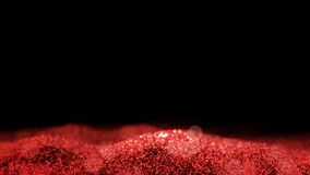 Red Shiny waving moving flowing ripple glitter background abstract seamless VJ loop particles backdrop alpha matte. 4k vector illustration