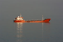 Red Ship Breakdown. Red ship industrial is moored for a breakdown Royalty Free Stock Image