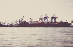Red Ship on the Sea during Daytime Stock Photography
