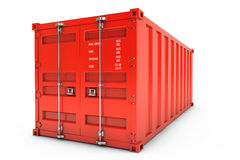 Red Shipping Container. 3d rendering Royalty Free Stock Photography