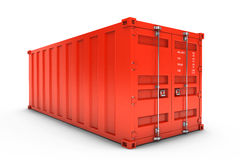 Red Shipping Container. 3d rendering Stock Photography