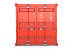 Red Shipping Container. 3d rendering Stock Image