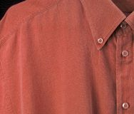 Red shirt. High res close -up of a red shirt stock photos