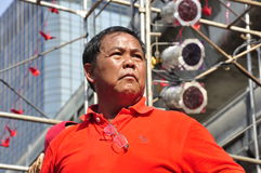 Red-shirt core member Kwanchai Praipana Royalty Free Stock Photography