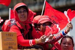 Red shirt demonstrations in Bangkok 2010 Stock Image