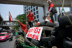Red shirt demonstrations in Bangkok 2010 Royalty Free Stock Photo