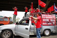 Red shirt protest bangkok Stock Images