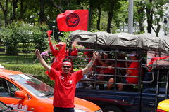 Red shirt protest bangkok Royalty Free Stock Images