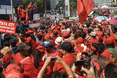 Red Shirt Protest - Bangkok Royalty Free Stock Images