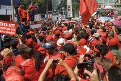 Red Shirt Protest - Bangkok Royalty Free Stock Images