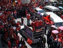 Red-Shirt Protest in Bangkok Stock Photos