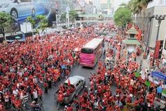 Red-Shirt Protest in Bangkok Royalty Free Stock Photos