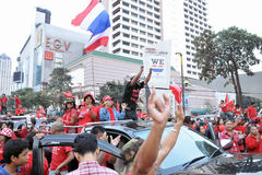 Red-Shirt Protest in Bangkok Royalty Free Stock Photo