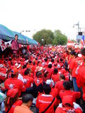 Red shirt protest in Bangkok Royalty Free Stock Photography