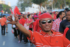 Red-Shirt Protester Royalty Free Stock Photo