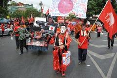 Red Shirt Rally in Bangkok Stock Photo