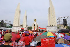 Red Shirt Rally in Bangkok Royalty Free Stock Photos