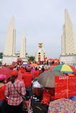 Red Shirt Rally in Bangkok Royalty Free Stock Image