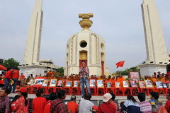 Red Shirt Rally in Bangkok Royalty Free Stock Images