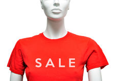 Red shirt sale Royalty Free Stock Image