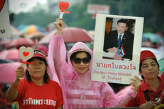 Red-Shirt Supporters. Rally at Democracy Monument to mark the 6th anniversary of a coup that outsted former prime minister Thaksin Shinawatra on September 15 Royalty Free Stock Image