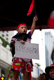Red shirts protest in Bangkok Royalty Free Stock Photography