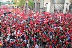 Red Shirts Protest in Central Bangkok Royalty Free Stock Images