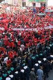 Red Shirts rally on Ratchaprasong Royalty Free Stock Photo